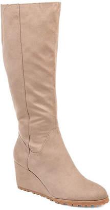 Journee Collection Womens Parker-Xwc Dress Wedge Heel Zip Boots