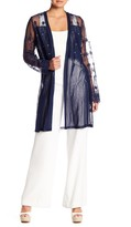 Forgotten Grace Faux Pearl Embellished Lace Duster