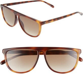 Givenchy 57mm Flat Top Sunglasses