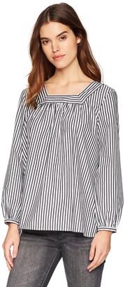 French Connection Women's Sardina Stripe Long Sleeve Flowy Blouse