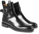Acne Studios Julian Polished-leather Jodhpur Boots - Black