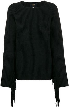 Class Roberto Cavalli Relaxed-Fit Fringed Jumper