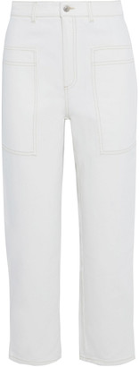 Stella McCartney Cropped High-rise Straight-leg Jeans