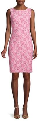 Donna Ricco Floral Jacquard Sheath Dress