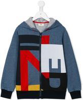 Fendi logo print hoodie - kids - Cotton - 8 yrs