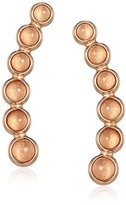 Fossil Pink Stone Rose Gold-Tone Earrings