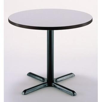 "30"" Round Table KFI Studios Top Finish: Gray Nebula, Size: 29"" H x 30"" L x 30"" W"