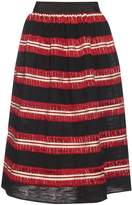 JUPE BY JACKIE Striped cotton-gauze skirt