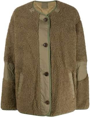 Etoile Isabel Marant oversized fleece textured jacket