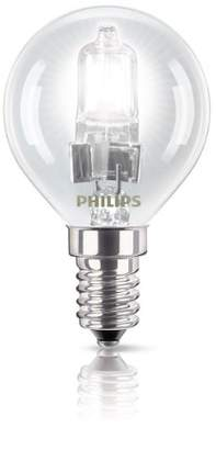 Philips EcoClassic Lustre lamp Halogen lustre bulb - halogen bulbs (Lustre, E14, Clear, C, Warm white, Hg (mercury))