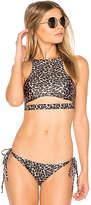 Beach Riot Sofi Bikini Top in Tan. - size L (also in M,S,XS)