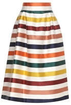 Carolina Herrera Striped cotton and silk midi skirt