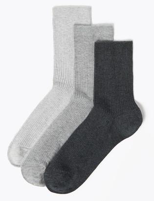 Marks and Spencer 3 Pack Non Marking Ankle Socks