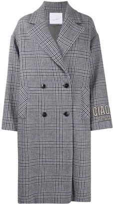 Giada Benincasa Check-Pattern Double-Breasted Coat