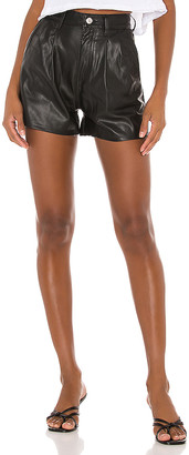 Levi's High Rise Faux Leather Short