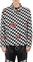 Off-White Men's Checkerboard Stretch-Cotton Work Jacket