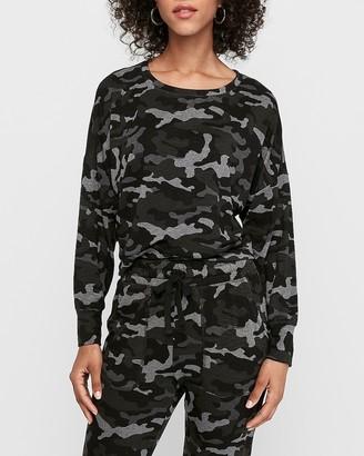 Express Camo Banded Bottom Sweatshirt