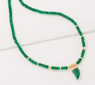 Lola Rose Zoe Gemstone Horn Pendant Adjustable Necklace