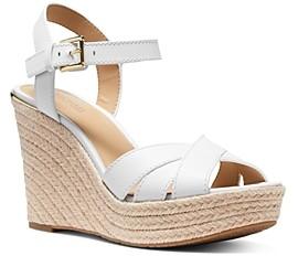 MICHAEL Michael Kors Women's Suzette Jute Wedge Heel Sandals