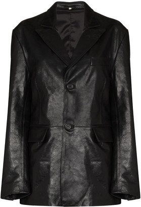 Sunflower Single-Breasted Leather Jacket