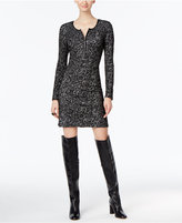 INC International Concepts Faux-Leather-Trim Sheath Dress, Only at Macy's