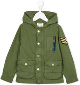 Zadig & Voltaire Kids - military patch hooded jacket - kids - Cotton - 12 yrs