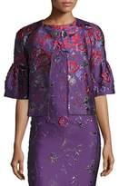 St. John Hania Floral Jacquard Jacket