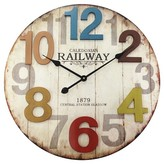 Infinity Instruments Weathered Wood Finish Clock