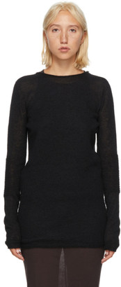 Rick Owens Black Alpaca Sweater