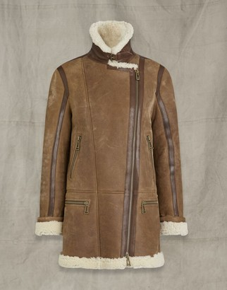 Belstaff AVIA SHEARLING JACKET Multicolor UK 4 /