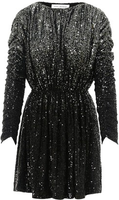 Saint Laurent Sequins Ruched Dress