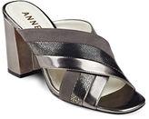 Anne Klein Wileta Crisscross Strap Suede Sandals