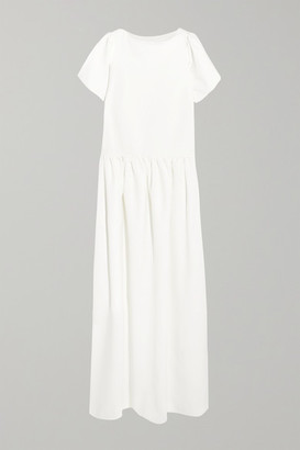 Halfpenny London Stella Drop-waist Crepe De Chine Gown - White