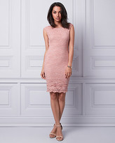 Le Château Lace Boat Neck Dress