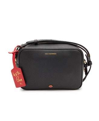 Lulu Guinness Patsy Grainy Leather Camera Bag Colour: BLACK, Size: One