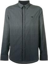Emporio Armani long sleeved ombre shirt