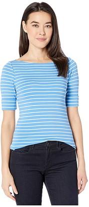 Lauren Ralph Lauren Petite Cotton-Blend Boatneck Top
