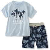 Calvin Klein Two-Piece Graphic Printed Tee and Shorts Set