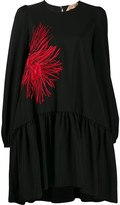 No.21 embroidered flower shift dress