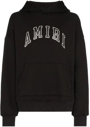 Amiri college-style logo print hoodie