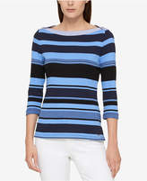 Tommy Hilfiger Cotton Boat-Neck Top, Created for Macy's