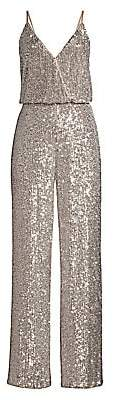 Aidan Mattox Women's Sequin Blouson Jumpsuit