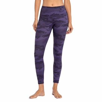 Meet U Womens Stretch Yoga Leggings Fitness Running Gym Sports Active Pants Purple