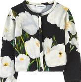 Dolce & Gabbana Tulipe-printed wool cardigan