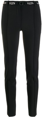 Valentino belted VLTN skinny trousers