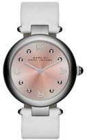Marc by Marc Jacobs Marc Jacobs Women's Dotty White Leather Watch - MJ1407