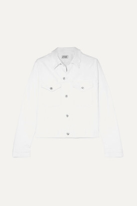 Eve Denim Kaila Cropped Denim Jacket - White
