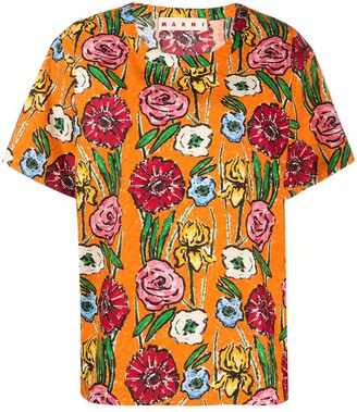 Marni floral-print cotton T-shirt