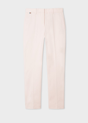 Paul Smith Women's Slim-Fit Light Pink Stretch-Cotton Pants