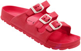 Jessica Carlyle Women's Sandals RED - Red Triple-Strap Summer Sandal - Women